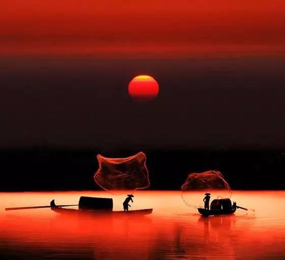 fishing_sunset
